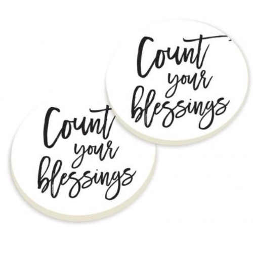 PGD Car Coaster Set, Count Your Blessings