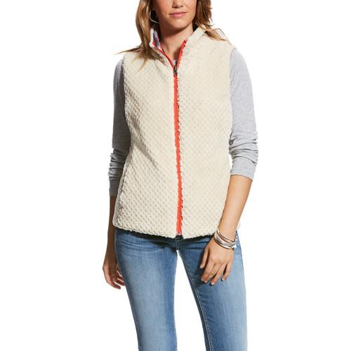 Women's Ariat Vest, Serape and Cream Sherpa, Reversible