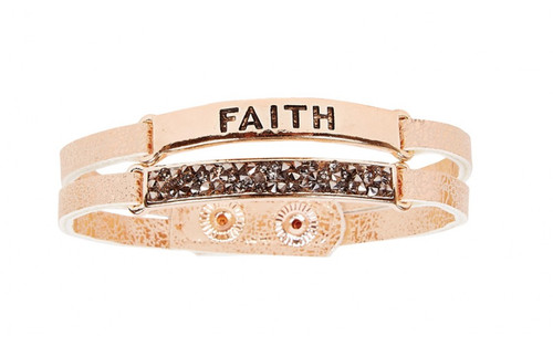 Ethel & Myrtle Bracelet, Rose Gold, Faith, Snap