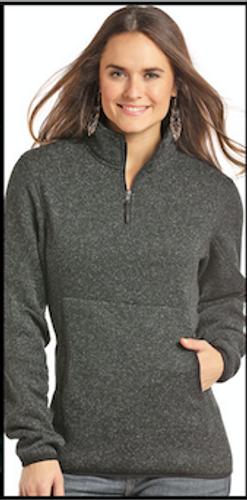 Women's Powder River Pullover, 1/4 Zip, Heathered