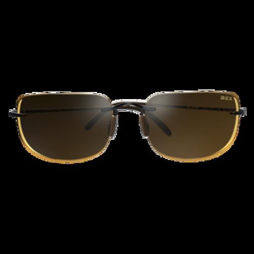 Bex Sunglasses Black Frame Brown Lens, Salerio II