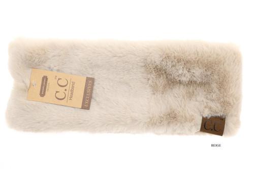 C.C. Headwrap, Fuzzy Lined Faux Fur