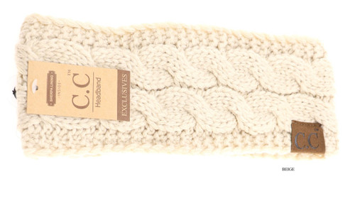 C.C. Headwrap, Solid Cable Knit