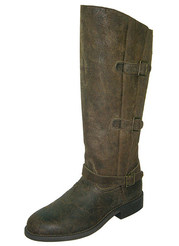 Women's Twisted X Riding Boot, Tall Rust Three Buckles