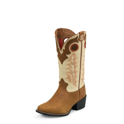 Kids Tony Lama Boot, Tan Roughout, Tall Shaft