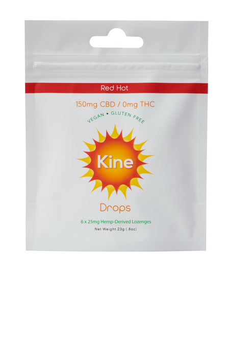 Kine Red Hot Drops - 150mg (6x25mg lozenges) front