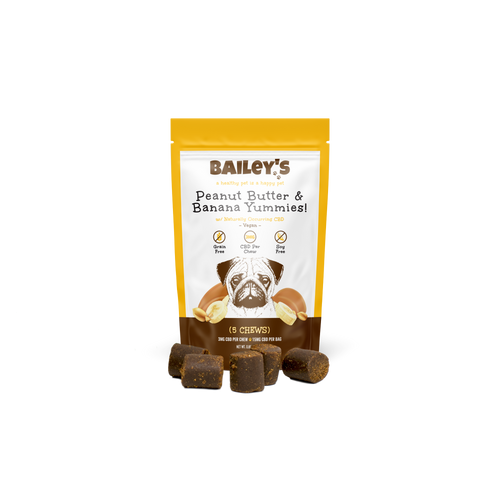 Bailey's Pet Peanut Butter and Banana Yummies Product 5ct Front