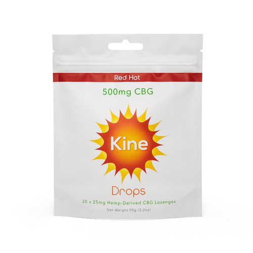 Kine CBG Red Hot Drops 500mg Front