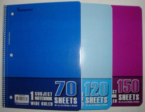 NOTEBOOK 70 SHEETS 1-SUBJECT
