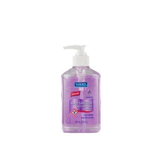 LUCKY HAND SANITIZER LAVENDER 12/8oz