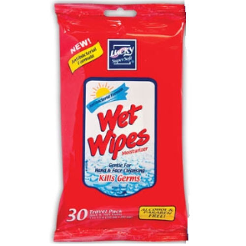 LUCKY WET WIPES ANTIB2/12/30PK