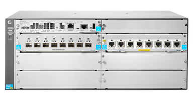 JL002A - Aruba 5406R 8-port 1/2 5/5/10GBASE-T PoE+ / 8-port SFP+ (No PSU)  v3 zl2 Switch - Fornida