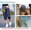 AccessoryHappy Premium Outdoor Hunting Tactical Holster Waist Cell Phone Pouch MOLE System fits Single Pistol Magazine, Knife, Flashlight, Sheath, Airsoft Hunting Ammo and Much More (Tan)