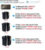 AH 360 Rotating Leather Vertical Cell Phone Belt Holster Pouch, Rugged Outdoor Pouch Horizontal Carrying Clip Holster