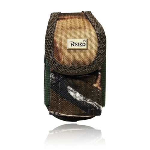 Medium Camo Premium Military Grade Canvas Belt pouch for Most small flip phones