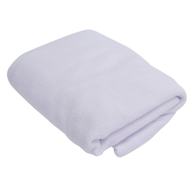 White Stretch Terrycloth Treatment Table Slipcover
