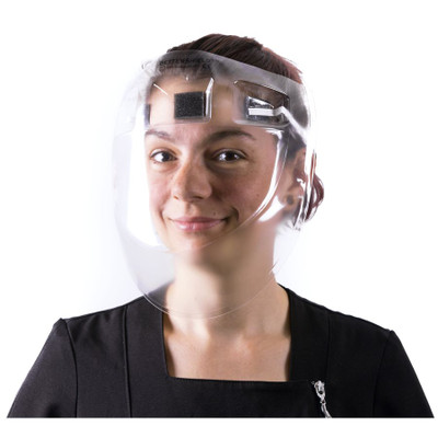 CURVED PROTECTIVE FACE SHIELD