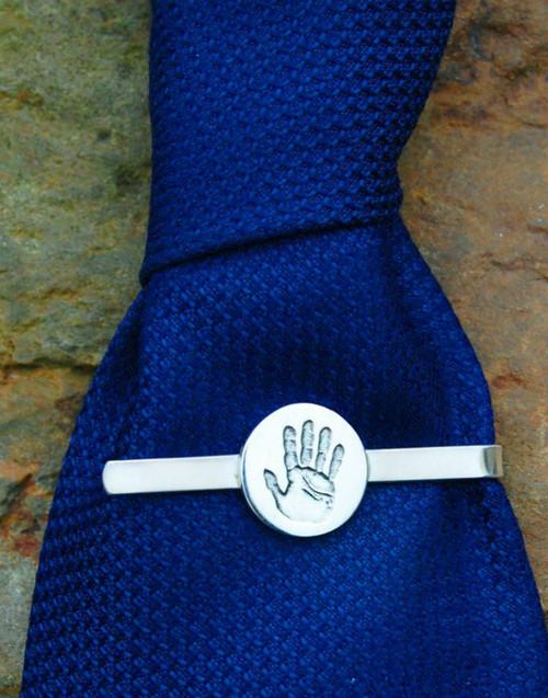 Handprint tie slide