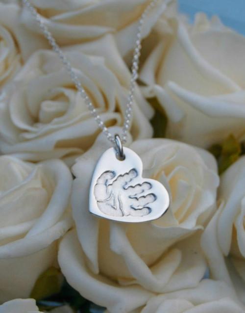 Heart print pendant