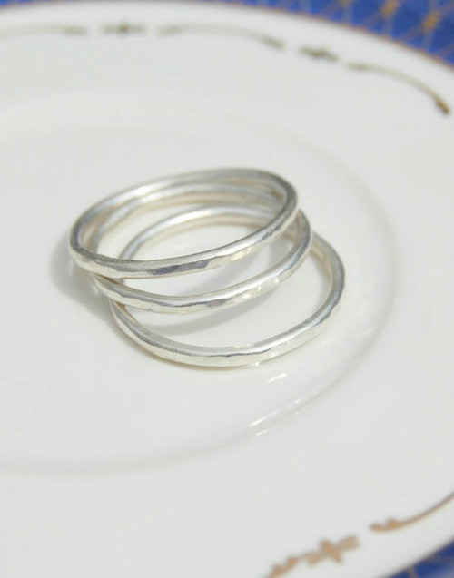 Three stacking rings