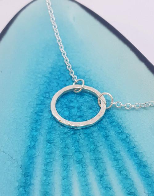 Circle Halo Necklace - medium size