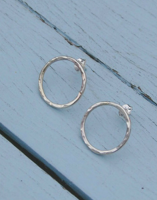 Halo sterling silver earrings
