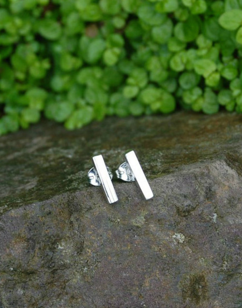 Sterling silver contemporary line earrings