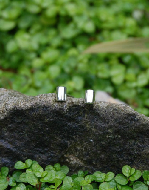 Sterling silver mini stud earrings