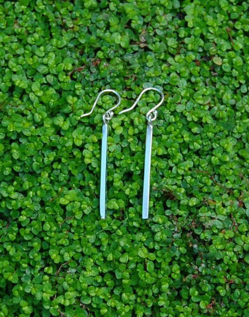 Sterling silver long line earrings