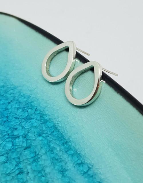 Sterling silver chunky dewdrop stud earrings