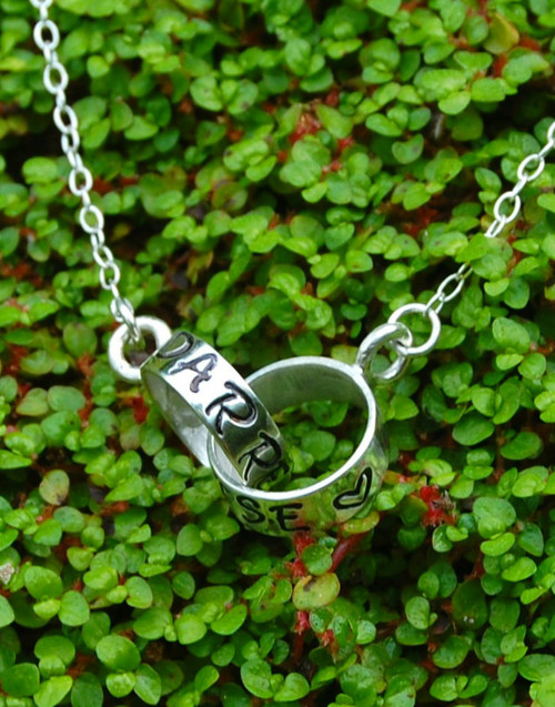 Linked Personalised Silver Necklace