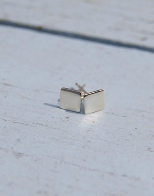 Square sterling silver stud earrings