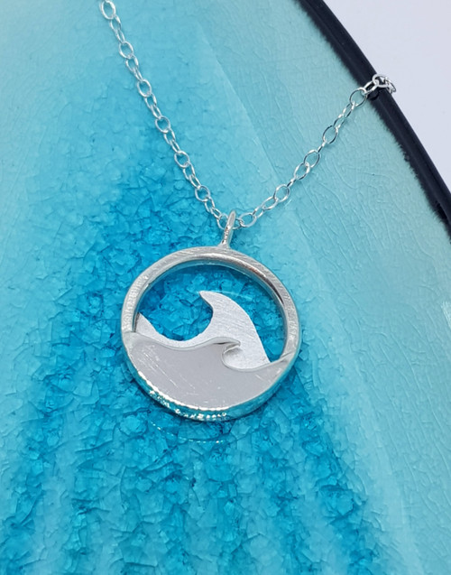 Sterling Silver Wild Atlantic Waves Necklace