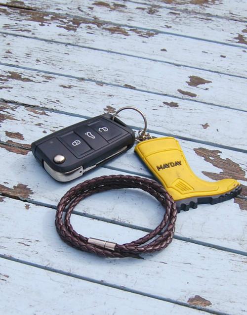 Brown wrap leather bracelet