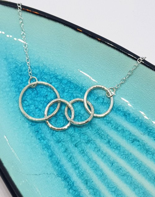 Sterling silver Mum of three necklace