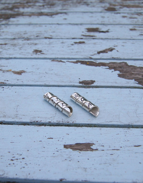 Spiral Message silver bead