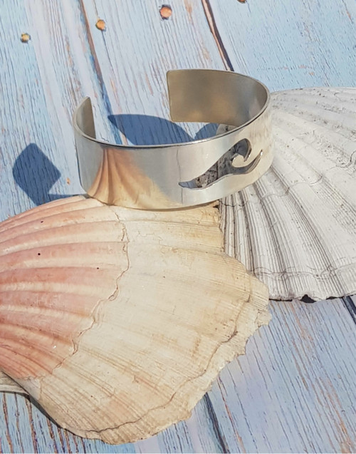 For all water babies, our silver wave cuff will be a winner