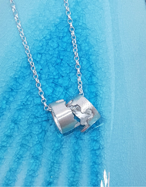 Silver meander necklace to  help you on your path in life