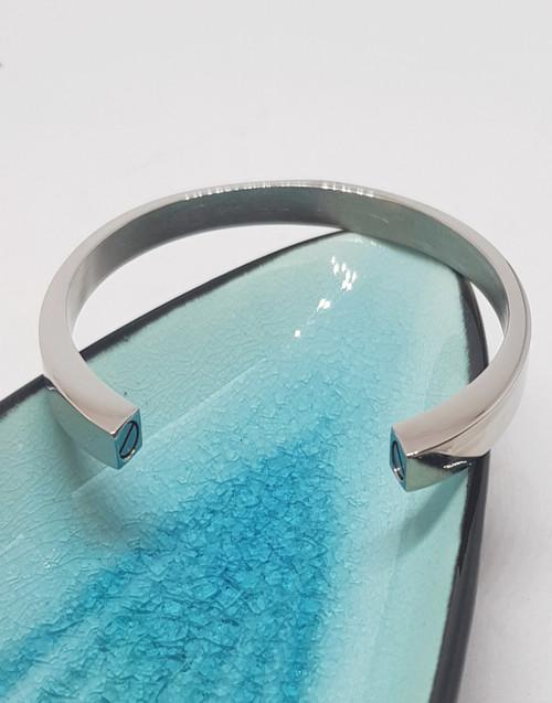 Stainless steel urn cuff bracelet