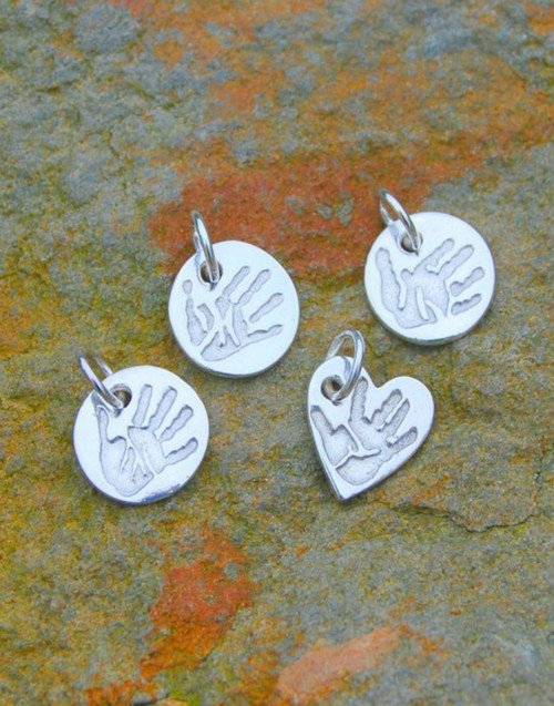 Fine silver charms with sterling silver jump ring. Make a collection of your charms