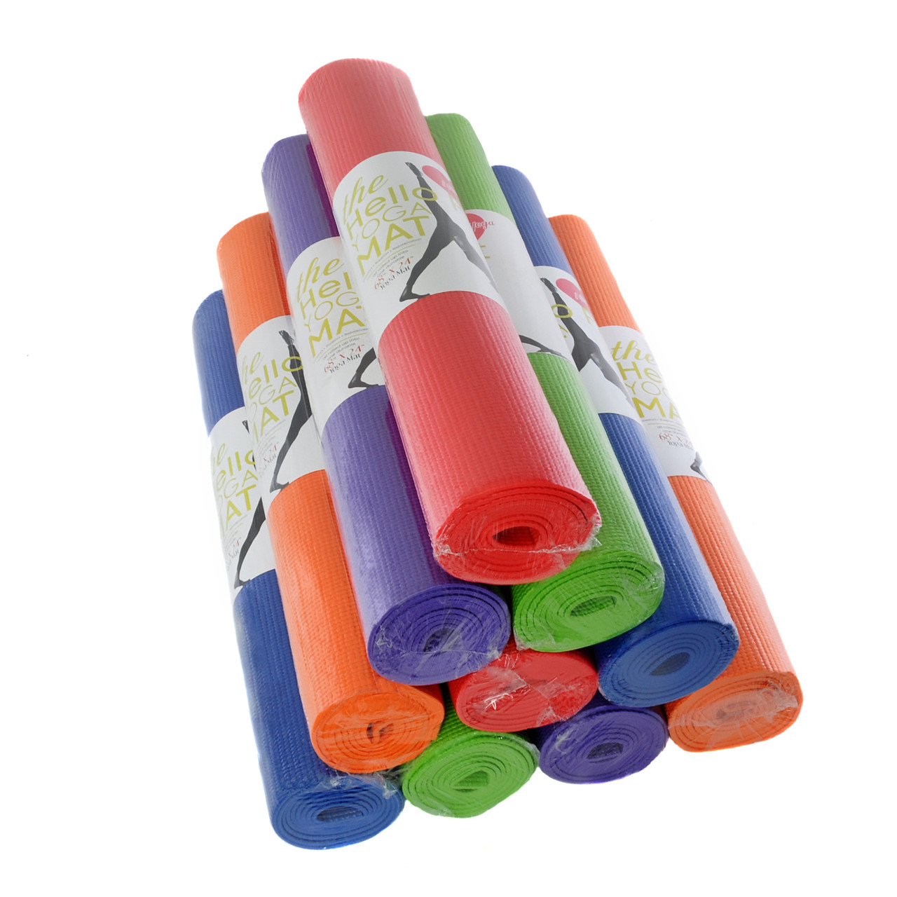 Yoga Mat Hello Fit Economy 10 Pack 68 X 24 X 1 8 Free Shipping