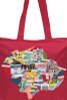 Inner West Map Tote Red. - (Duplicate Imported from BigCommerce)