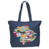Inner West Map Tote Navy.
