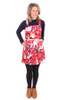 Petra Pinafore Wild Natives Red. - LUCKY LAST ONE LEFT - SMALL