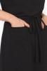 Demi Drawstring Dress Long Black