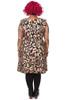 Demi Drawstring Dress Midi Leopards Black