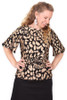 Every Body Evelyn Top Leopards Black.