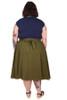 Every Body Valentina Skirt Midi Moss Linen.