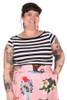 Every Body Sybil Top Navy Stripe