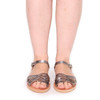 Sandal Braid metallic Nickel